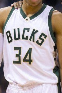Milwaukee Bucks 2016 -17 Home jersey