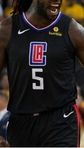 Los Angeles Clippers 2018 -19 statement jersey