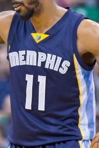 Memphis Grizzlies 2016 -17 road jersey