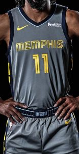 Memphis Grizzlies 2018 -19 city jersey
