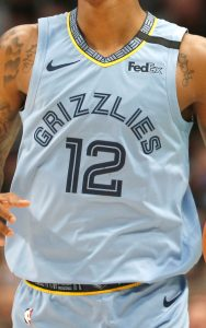 Memphis Grizzlies 2018 -19 statement jersey