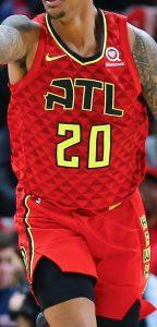 Atlanta Hawks 2018 -19 away jersey