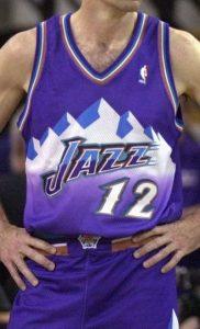 Utah Jazz 1997 -98 road jersey