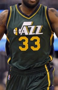 Utah Jazz 2014 -15 alternate jersey