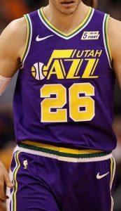 Utah Jazz 2018 -19 throwback jersey
