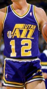 Utah Jazz 1986-87 road jersey