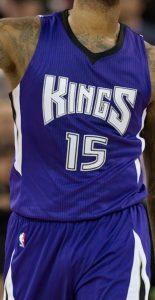 Sacramento Kings 2015 -16 away jersey
