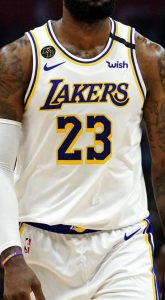 Los Angeles Lakers 2018 -19 Home jersey