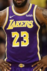 Los Angeles Lakers 2018 -19 road jersey