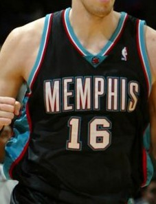 Memphis Grizzlies 2001 -02 away jersey