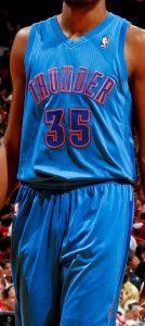 Oklahoma City Thunder christmas 2012 jersey