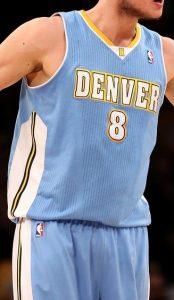Denver Nuggets 2014 -15 road jersey