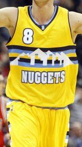 Denver Nuggets 2016 -17 statement jersey