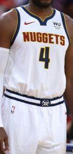 Denver Nuggets 2019 -20 association jersey