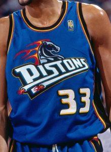 Detroit Pistons 1999 – 2000 road jersey