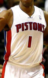 Detroit Pistons 2003 -04 home jersey