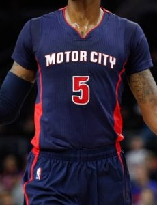 Detroit Pistons 2016 -17 motorcity short sleeve jersey