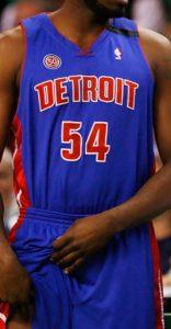 Detroit Pistons 2007 -08 road jersey