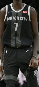 Detroit Pistons 2018 -19 motor city jersey