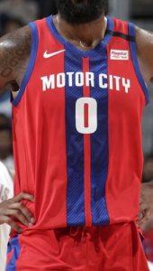 Detroit Pistons 2019 -20 motor city jersey
