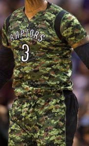 Toronto Raptors 2014 -15 military jersey