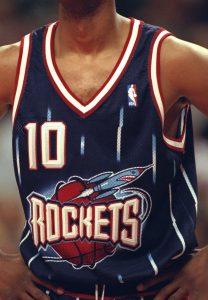 Houston Rockets 1996 -97 road jersey