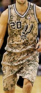 San Antonio Spurs 2013 -14 hoops for troops jersey