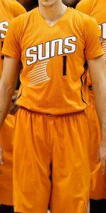 Phoenix Suns 2013 -14 short sleeve alternate jersey
