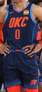 Oklahoma City Thunder 2018 -19 statement jersey