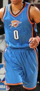 Oklahoma City Thunder christmas 2014 jersey