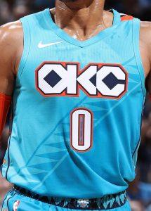 Oklahoma City Thunder 2018 -19 city jersey