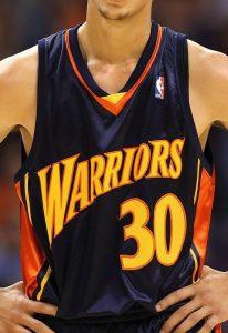 Golden State Warriors 2009 -10 road jersey