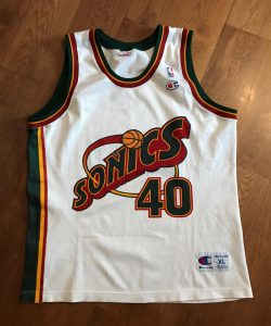 Seattle Supersonics 1995 -96 Home kit