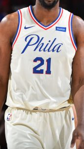 Philadelphia 76ers 2017 -18 city jersey