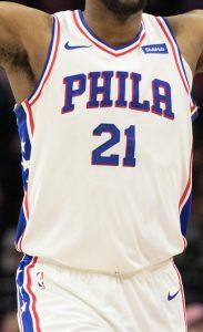 Philadelphia 76ers 2019 -20 association jersey