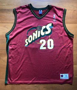 Seattle Supersonics 2000 -01 Alternate jersey
