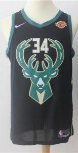 Milwaukee Bucks 2017 -18 statement jersey