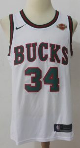 Milwaukee Bucks 2018 -19 classic jersey