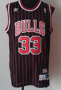 Chicago Bulls 1995 -96 alternate pinstriped jersey
