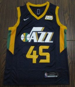 Utah Jazz 2017 -18 icon jersey