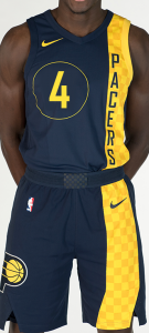Indiana Pacers 2017 -18 city jersey
