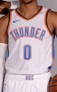 Oklahoma City Thunder 2018 -19 association jersey