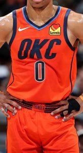 Oklahoma City Thunder 2018 -19 earned jersey