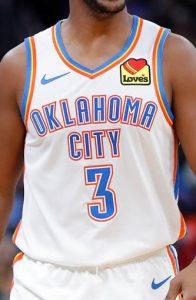 Oklahoma City Thunder 2019 -20 association jersey