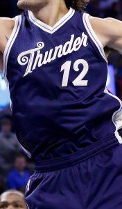 Oklahoma City Thunder Christmas 2015 jersey