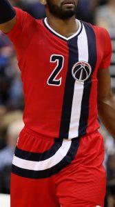 Washington Wizards 2016 -17 short sleeve Baltimore Bullets jersey