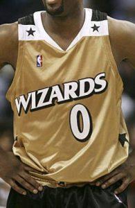 Washington Wizards 2006 -07 Gold jersey