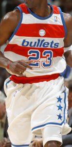Washington Wizards 2002 -03 Bullets throwback jersey