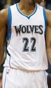 Minnesota Timberwolves 2015 -16 Home jersey