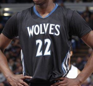 Minnesota Timberwolves 2014 -15 sleeve alternate jersey
